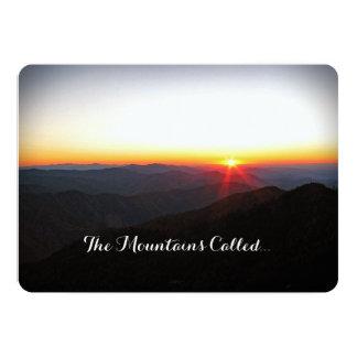 私達は豪華な山が呼んだときに駆け落ちしました 12.7 X 17.8 インビテーションカード