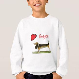 私達は贅沢なfernandesからのビーグル犬をlove スウェットシャツ