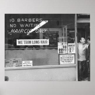 私達は長い毛を整えます ポスター