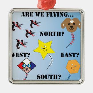 私達は飛行…東の南西北にあります メタルオーナメント