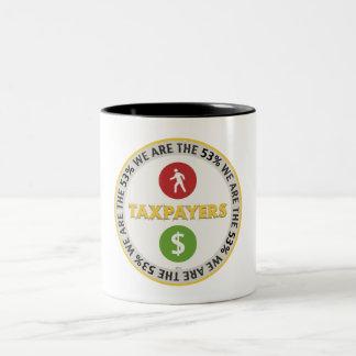 私達は53%の納税者です ツートーンマグカップ