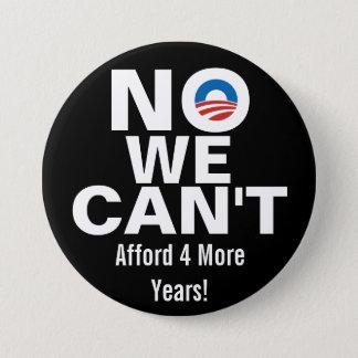 私達は、オバマ反ボタンできません 7.6CM 丸型バッジ