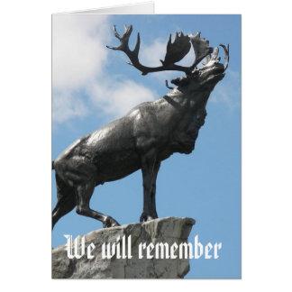 私達はCaribooの記念物を覚えています カード