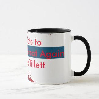 私達はCTに素晴らしい#TeamTillettを再度作るために投票します マグカップ