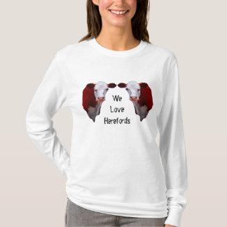 私達はHerefordsを愛します: 2重複したHerefords: 芸術 Tシャツ