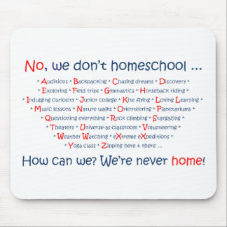 私達はHomeschool マウスパッド
