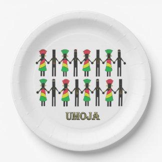 私達はKwanzaaの統一されたなパーティーの紙皿です ペーパープレート