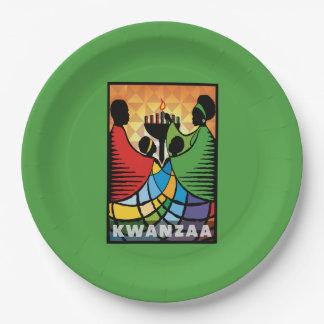 私達はKwanzaaの1つのパーティーの紙皿です ペーパープレート