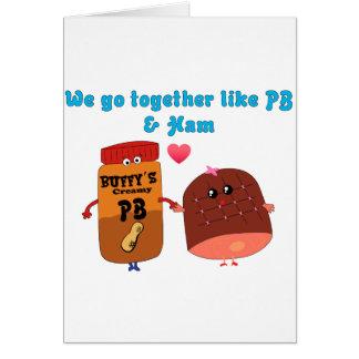 私達はPJおよびハムのように一緒に行きます カード