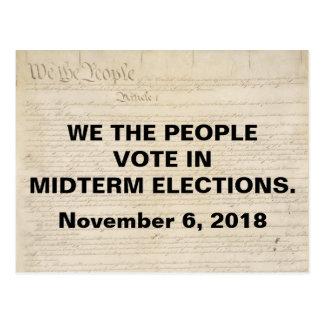 私達中間選挙の人々の投票 ポストカード