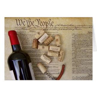 私達人々のワインの挨拶状! カード