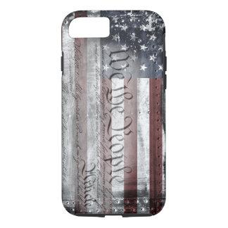 私達人々のヴィンテージの米国旗のiPhone 7の例 iPhone 8/7ケース