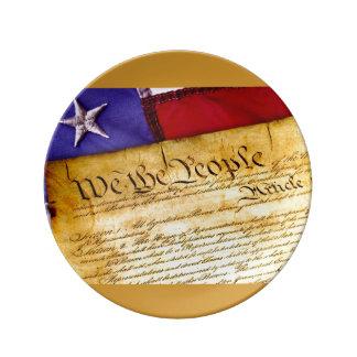 私達人々憲法のプレート 磁器プレート