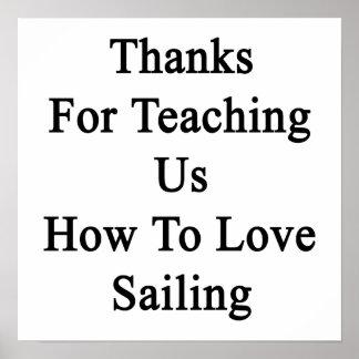 私達教えるをありがとう航海することを愛する方法を ポスター