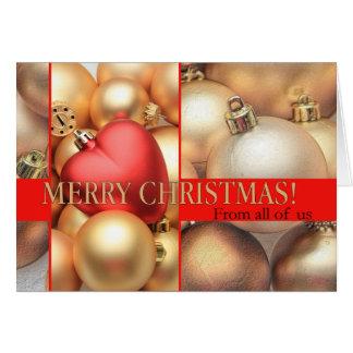 私達皆から… クリスマスカード カード