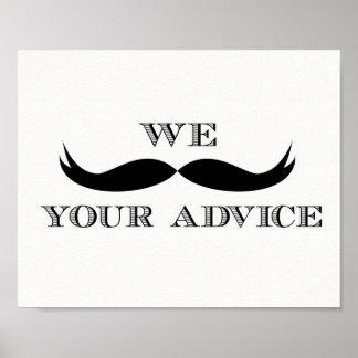私達髭あなたのアドバイスの印 ポスター