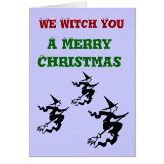 私達魔法使いメリークリスマスの挨拶状 カード