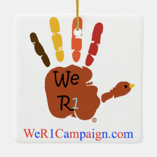 私達R1感謝祭手、オーナメント セラミックオーナメント