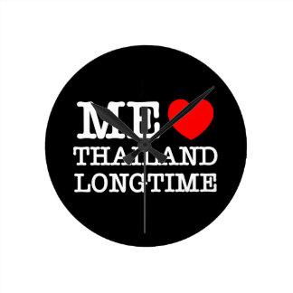 私長い間愛タイ ラウンド壁時計
