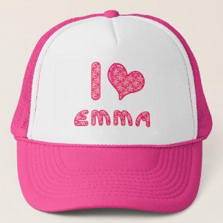 私/ハートのエマの野球帽/トラック運転手の帽子は愛します キャップ