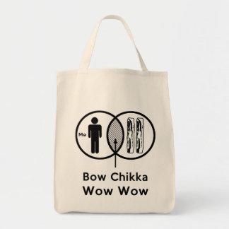 私 + ベーコン=弓Chikkaのワウのワウ トートバッグ