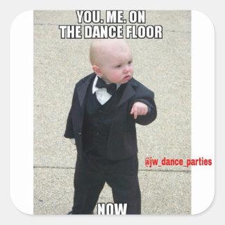 |私|今度は|ダンス|床|ステッカー 正方形シールステッカー