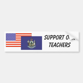 私--私達の先生を支えて下さい バンパーステッカー