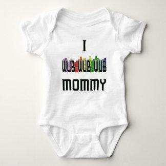 """""""私Wubのお母さん""""のDubstepの乳児のクリーパー ベビーボディスーツ"""