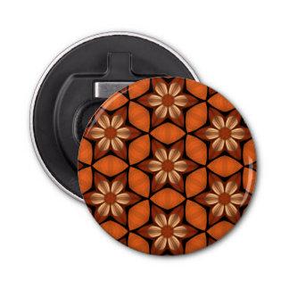 秋によっては幾何学的なパターン暖かい色が開花します 栓抜き