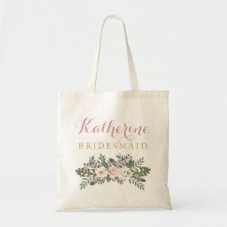 秋によってBohoは|の結婚のブライダルパーティが開花します トートバッグ