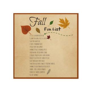 秋のおもしろいのリストの季節的な秋の収穫の活動 ウッドウォールアート