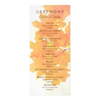 秋のかえでは結婚式プログラムを去ります ラックカード