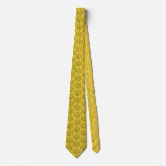 秋のかえでは芸術を黄色にするためにパターンマスタードを去ります オリジナルネクタイ