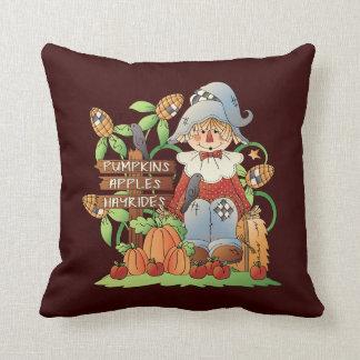 秋のかかしの季節的な装飾用クッション クッション