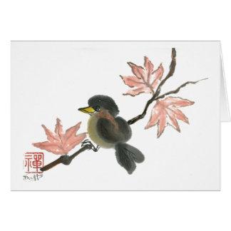 秋のすずめ カード