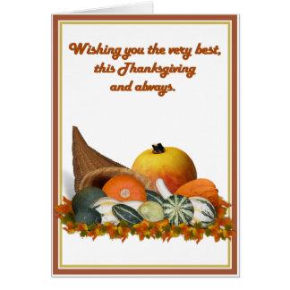 秋のひょうたんが付いているコルヌコピア カード