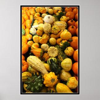 秋のひょうたん ポスター