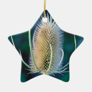 秋のアザミ 陶器製星型オーナメント