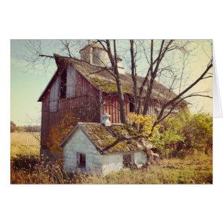 秋のイリノイの納屋 カード