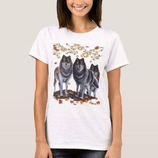 秋のオオカミ Tシャツ