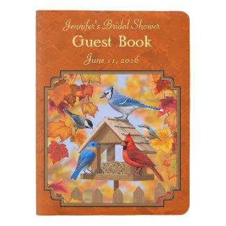 秋のオレンジを集める鳥の送り装置 エクストララージMoleskineノートブック