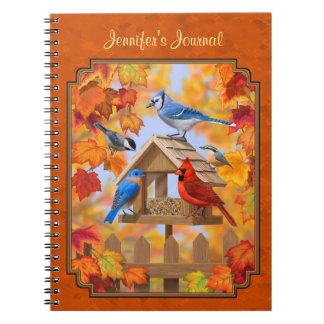 秋のオレンジを集める鳥の送り装置 ノートブック