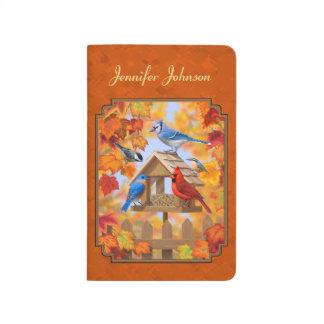 秋のオレンジを集める鳥の送り装置 ポケットジャーナル