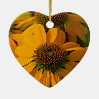 秋のオレンジechinaceaの花 セラミックオーナメント