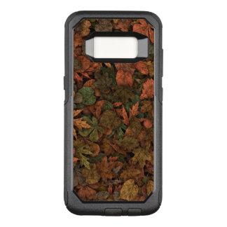秋のカシの葉のカムフラージュの緑及び金の錆 オッターボックスコミューターSamsung GALAXY S8 ケース