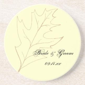 秋のカシの葉の結婚式 ビバレッジコースター