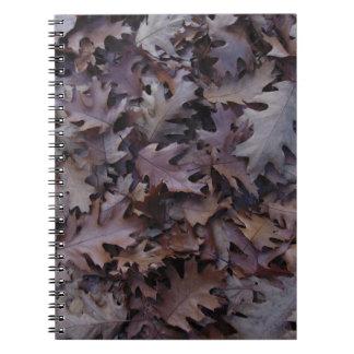 秋のカシの葉 ノートブック