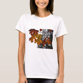 秋のカシの葉 Tシャツ