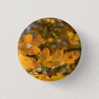 秋のカシはボタン/バッジを去ります 3.2CM 丸型バッジ