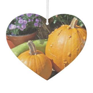 秋のカボチャおよび花 カーエアーフレッシュナー